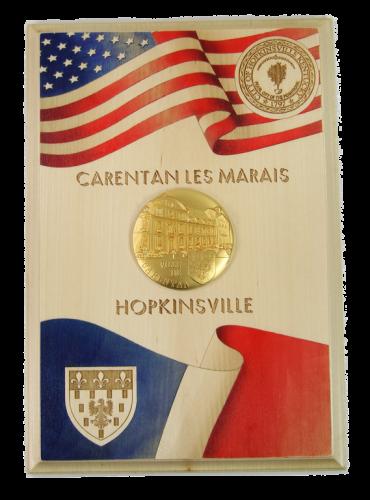 Trophée gravé laser Carentan Hopkinsville